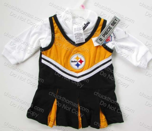 Steelers Infant and Baby 2 Piece Cheerleading Outfit