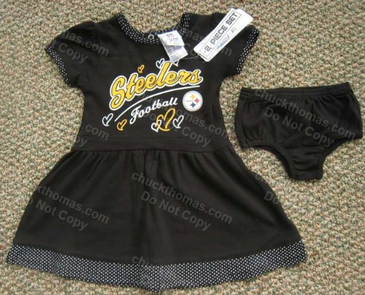 Steelers 2 piece BLACK Cheerleading Dress and Trunks