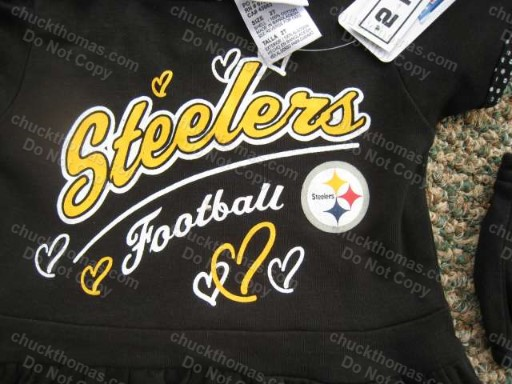 Steelers BLACK Cheerleading Outfit