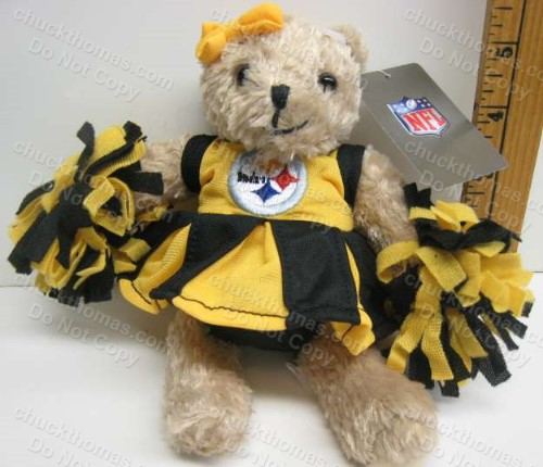 Steelers Talking Cheerleading Plush Bear