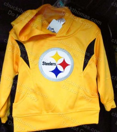 Steeler Child's Long Sleeve GOLD Pullover Hoody