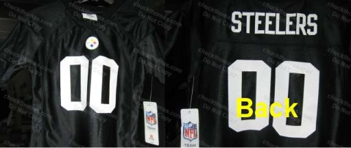 Steeler Girls BLACK 00 Jersey Like Top