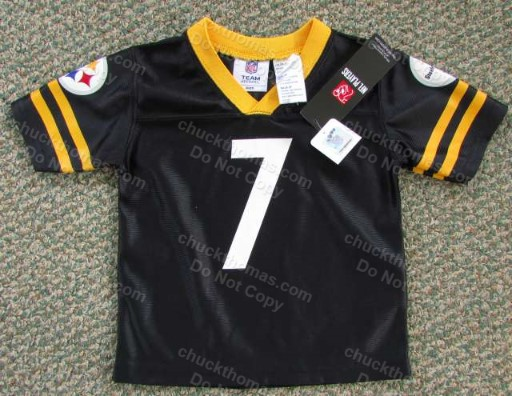 Ben Roethlisberger Youth Child Black Jersey