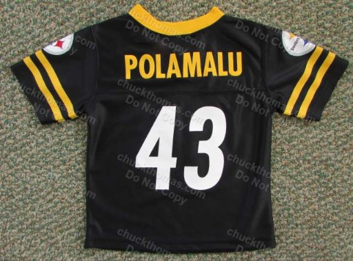 Steeler Troy Polamalu  Youth Child Black Jersey