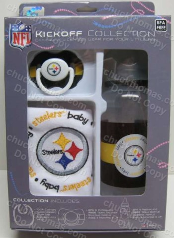 Steelers Bib Bottle and Pacifier