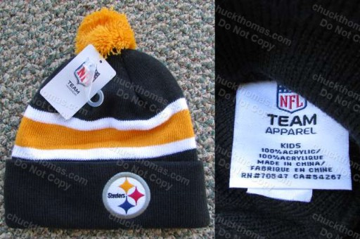 Steelers Kids Knit Tossle Hat