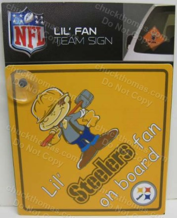 Little Steelers Fan on Board Car Sign