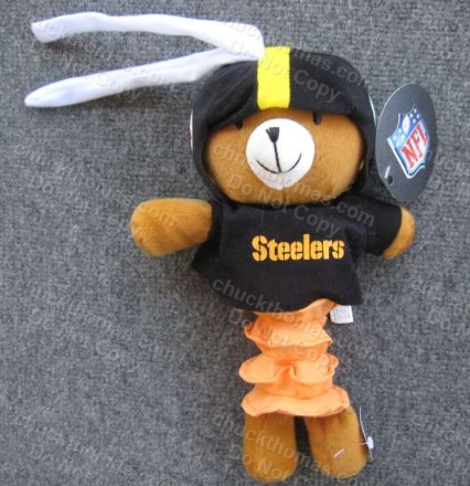 Steeler Kids Musical Pull Plush Bear