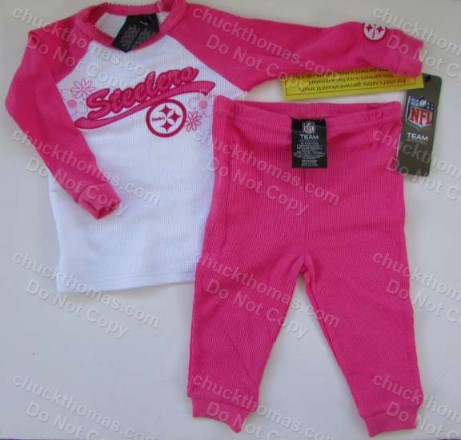 Steelers Pink 2P Pajamas by Gerber
