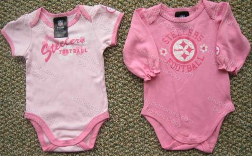 Steeler Pink Short or Long Sleeve Onesie