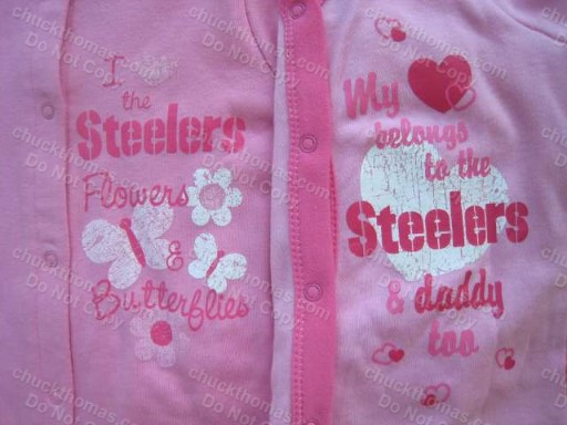 Steelers Pink Footed Sleep and Play - LOTS of Ruffles !
