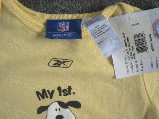 Steelers Reebok GOLD My First Puppy Onesie