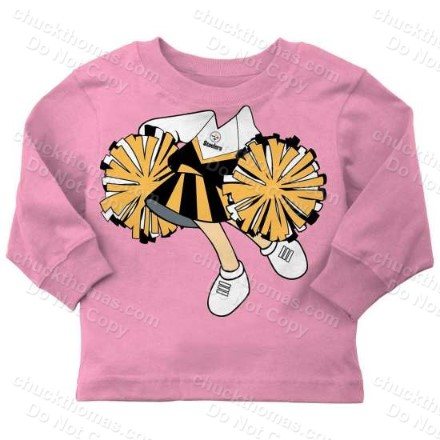 Steeler Pink Long Sleeve You Supply the Cheerleader Shirt