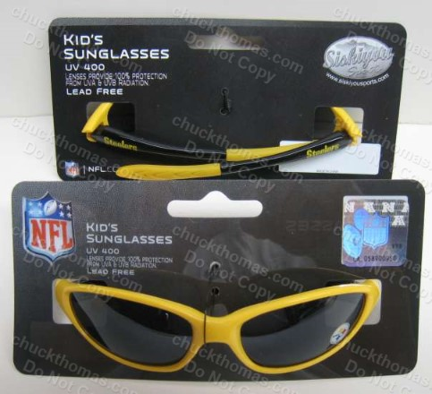 Steelers Black and Gold Kids UV 400 Sunglasses