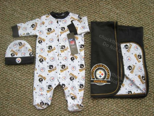 Steelers 3 piece sleep and play set