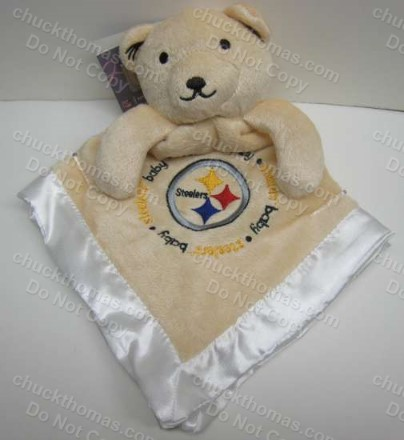 Steelers Snuggle Bear Blanlie