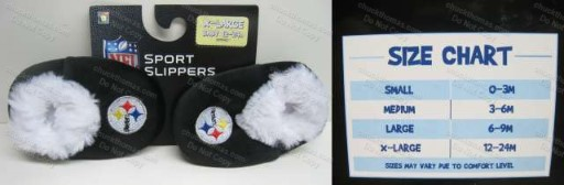 Steeler Baby Sport Slippers