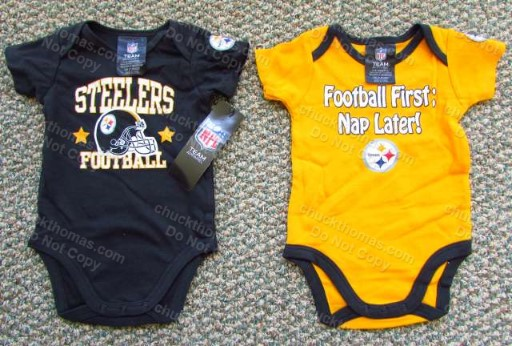 Steelers Black or Gold Short Sleeve Bodysuits