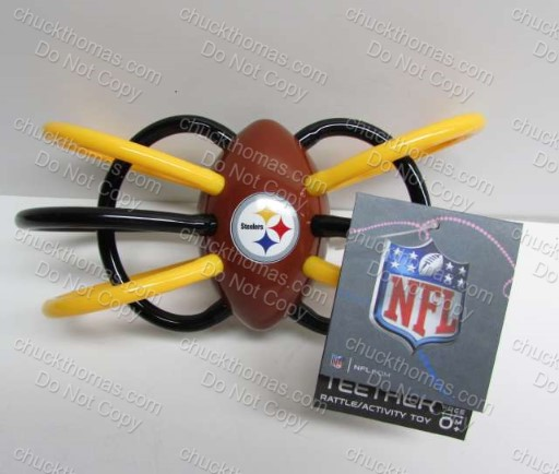 Steeler Baby Teether and Rattle Plus Clip