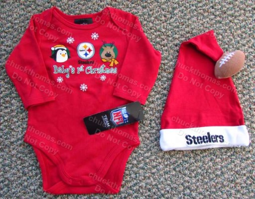 Steelers Baby Christmas 2 Piece Outfit