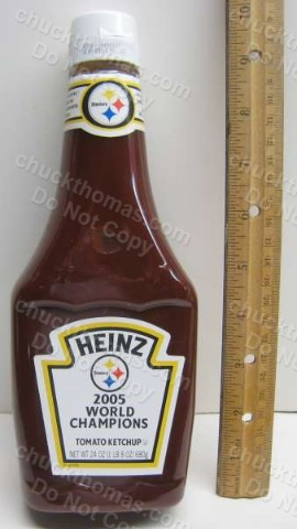 Steeler SBXL 2005 FULL Ketchup Bottle