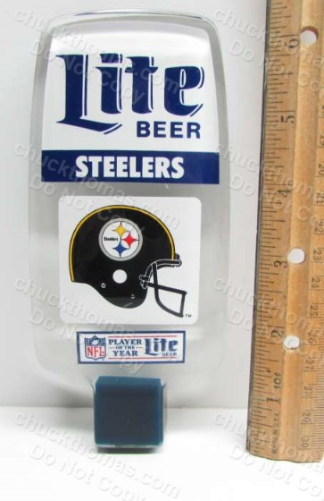 Steeler Lite Beer Tap Handle