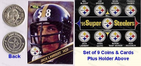 Steeler Coins and Cards Set