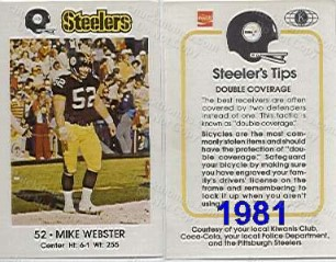 1981 Steeler Police Card