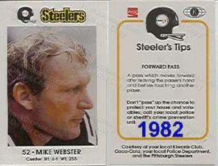 1982 Steeler Police Card