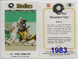 1983 Steeler Police Card