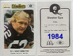 1984 Steeler Police Card