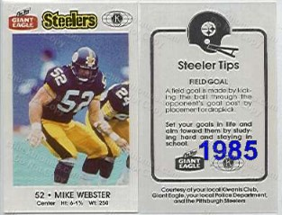1985 Steeler Police Safety Card