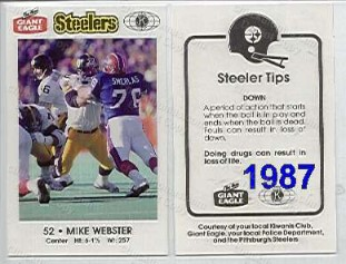 1987 Steeler Police Safety Card
