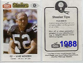 1986 Steeler Police Safety Card