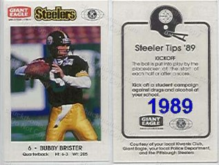 1989 Steeler Police Safety Card