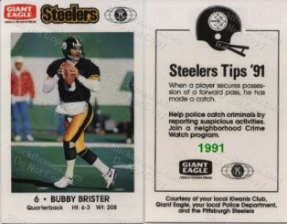 1991 Steeler Police Safety Card