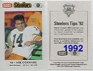 1992 Steeler Police Safety Card