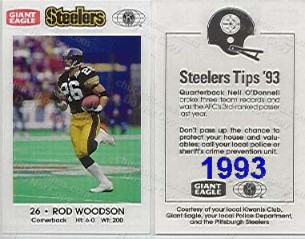 1993 Steeler Police Card
