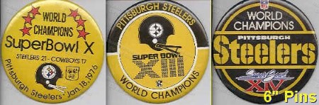 STEELERS 6 Inch Super Bowl Pins