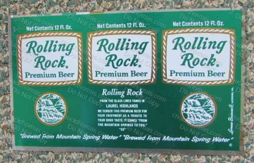 Rolling Rock Flat Steel Unrolled Can