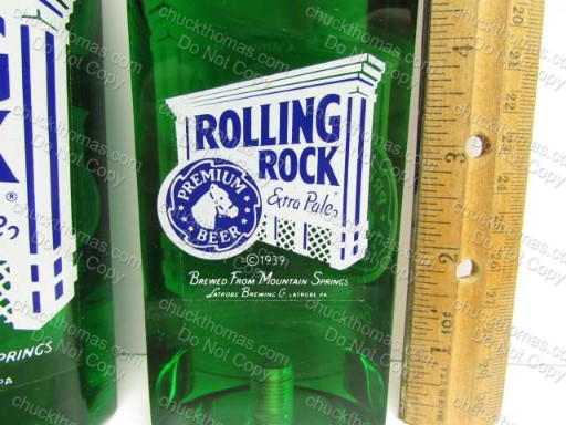 Latrobe Brewing Rolling Rock 9 1/2 Inch Acrylic Tap Handle