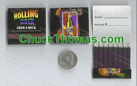 Rolling Rock Matchbooks