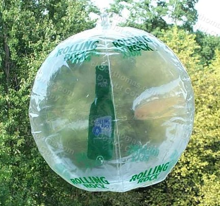Rolling Rock Rock Beach Ball Ad Display