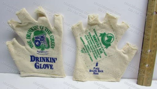 Rolling Rock Drinking Glove Open Fingers