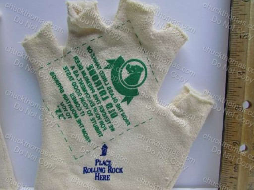 Rolling Rock Latrobe Brewing Co Tan Drinking Fingerless Glove