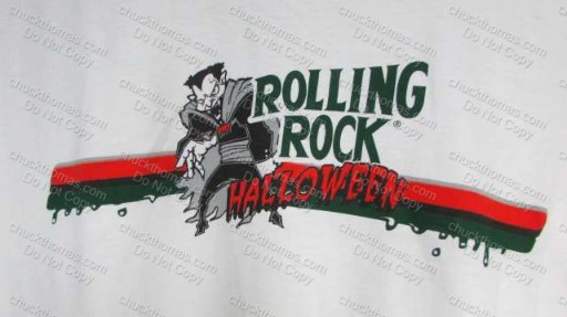 Happy Halloween Rolling Rock Tee Shirt