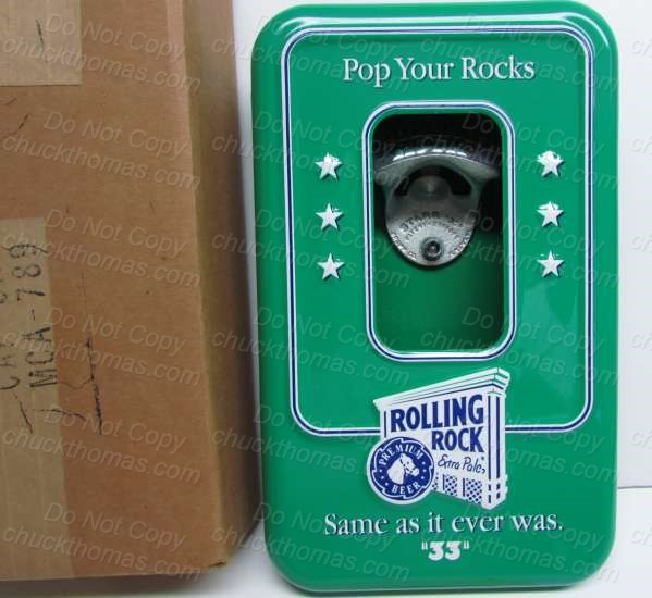 Latrobe Brewing Rolling Rock Pop Your Rocks USED Canister