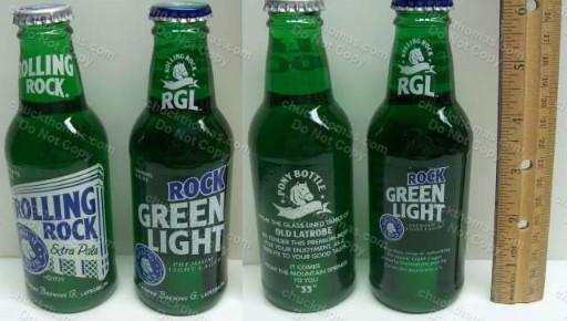 Original Rolling Rock Latrobe Brewing Co Collectible Beer Bottle No Cap