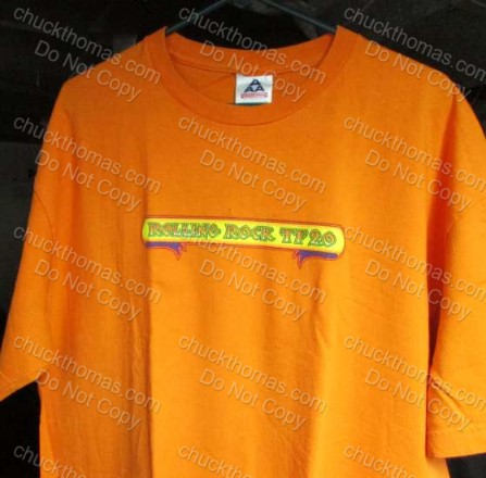 Rolling Rock Town Fair 2 Orange Tee Shirt
