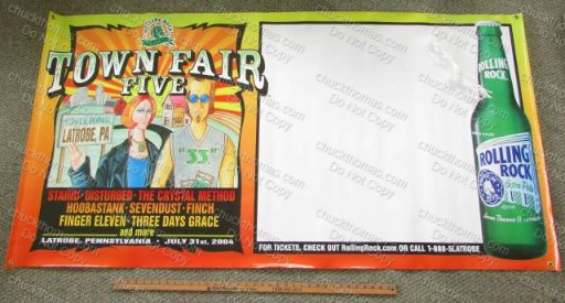 Rolling Rock 2004 Town Fair Banner NEW / Old Stock